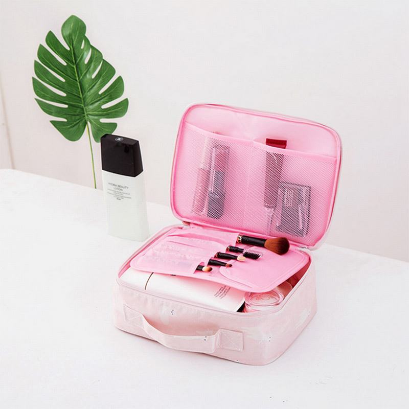 Image 3 - Travel Fashion Lady Cosmetics  Bag Beautician Portable Storage Bags Large Capacity Women Makeup Bag-in Storage Bags from Home & Garden