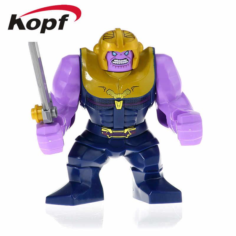 Super Heroes Bouwstenen Avenger 4 Thanos Serie Verchroomde Infinity Gauntlet Met Power Stenen Figuren Poppen Speelgoed Voor Kinderen