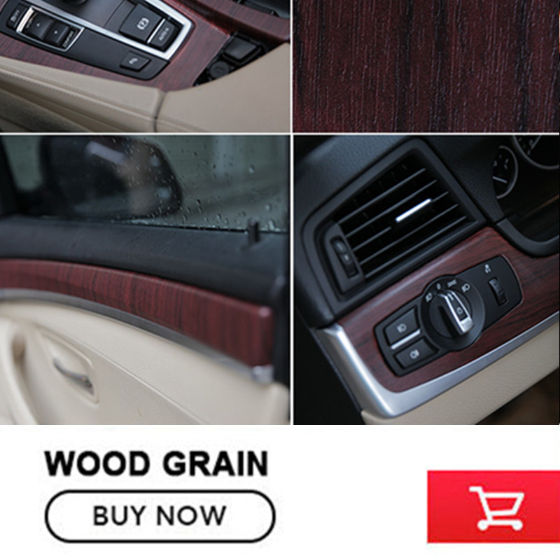Car-Styling 30CM*1M  Wood Textured Grain Vinyl Wrap Decals Adhesive Glossy Wood Grain PVC Vinyl Film Car Interior Stickers glossy film vinyl sticker on car jdm graffiti car sticker bomb wrap stickers motorcycle accessories full car decals car styling