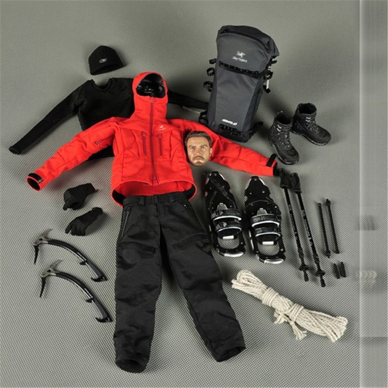 Mnotht 1/6 Bourne 4 Mountaineering suit Jacket Pants Shoes Outdoor Casual Solider Clothes Set With Head Sculpt Hats l30 bourne deception