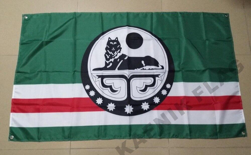 KAFNIK 10PCS LOT Flag of the Chechen Republic of Ichkeria 90x150cm 3x5ft Indoor Outdoor big size