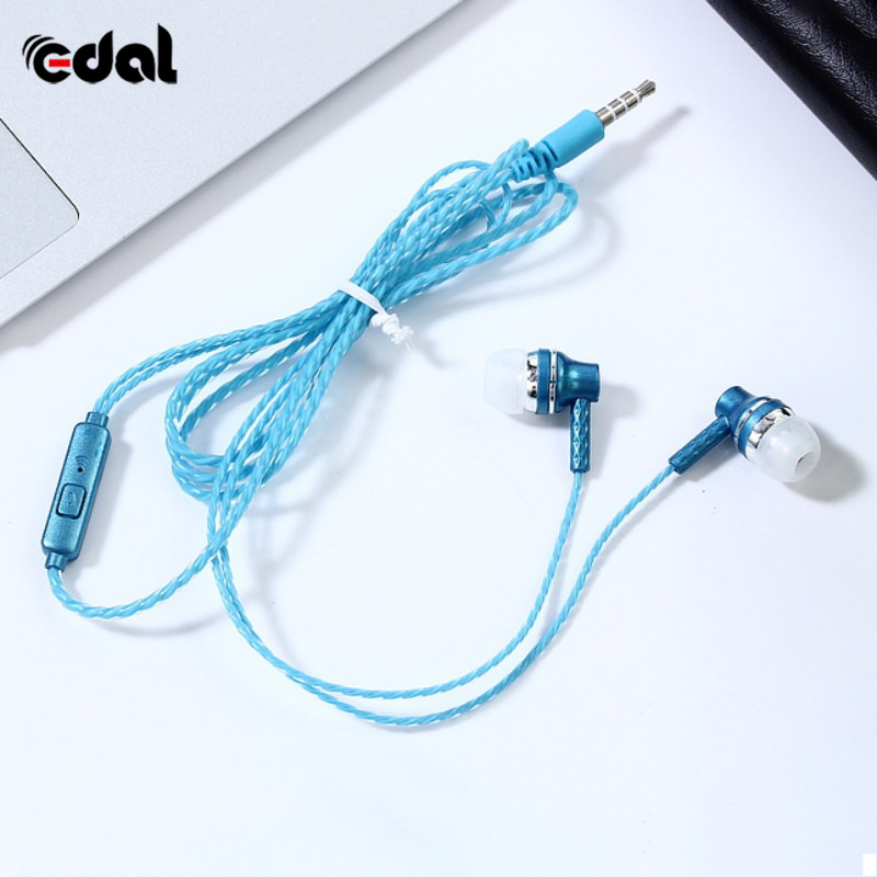 Wired In-Ear Earphone Music Earphones Clear Bass Earpiece Sport Earbuds With Mic For iPhon