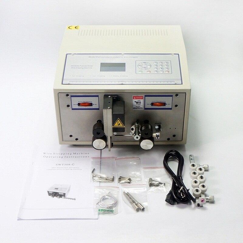Ordinateur câble à dénuder twister machine SWT508C pour coupe peeling striping 2.5mm2 câble fil
