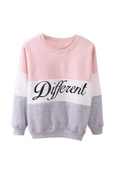2015 Autumn and winter women fleeve hoodies printed letters Different women's casual sweatshirt hoody sudaderas