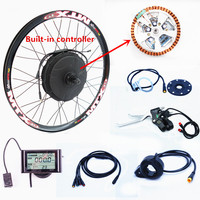 50KM H 20 28 48v 1000w Brushless Gearless Hub Motor Ebike Conversion Kit 1000w