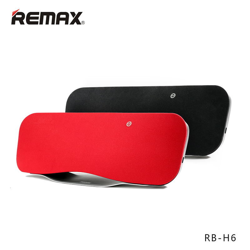 REMAX RB-H6 Desktop Bluetooth speaker Portable Wireless speaker 3D stereo bass surrounded sound NFC HIFI Remote USB Charge solo one wireless bluetooth speaker vogue wooden nfc stereo super bass desktop speaker touch button for ios smartphone tablet pc