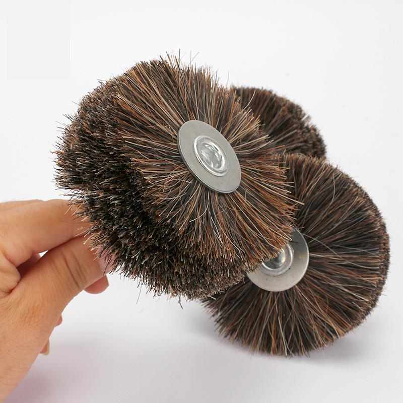 Abrasive Horse Tail Hair Wheel Brush Woodwork Durable Polish Bench Grinder For Metal Stone Wood