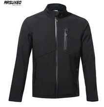 цена на ARSUXEO Winter Jacket Men Women Cycling Thermal Fleece Clothing MTB Bike Jacket Windproof Warm Up Outdoor Sports Running Coat