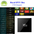X96 Android IPTV caja IPTV Real 1730 + canales en vivo iptv árabe Europa Suecia Holanda Francés S905X Quad Core Wifi TV Box 4 K * 2 K