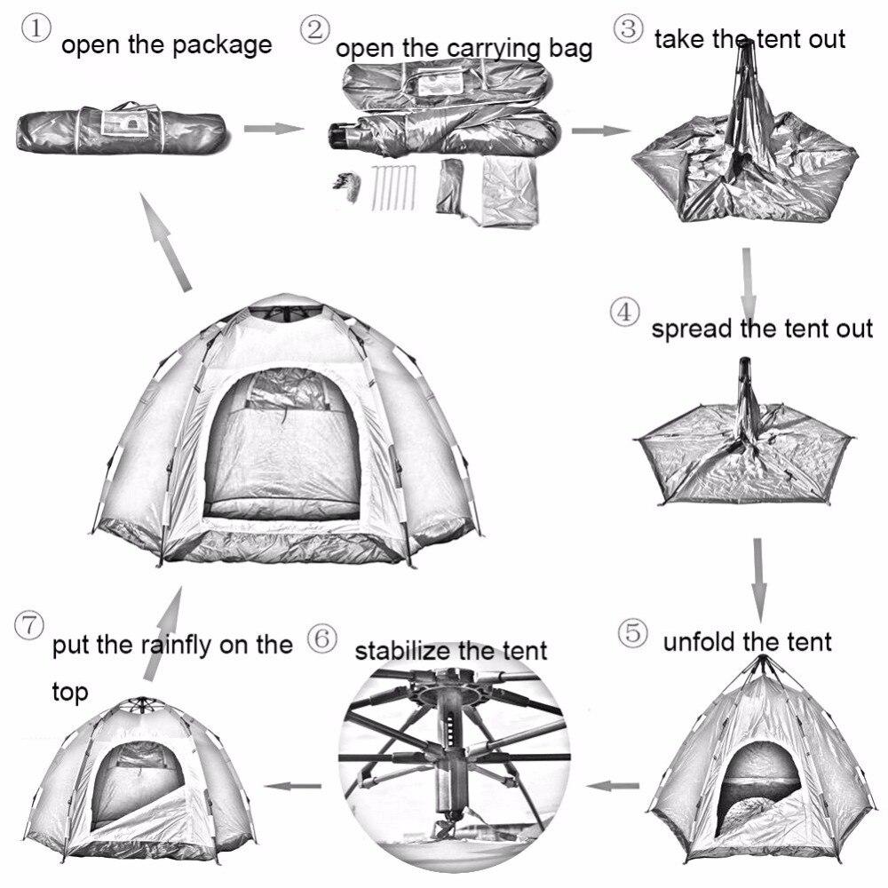 Ausgezeichnet Wie Ein Rahmen Zelt Einrichten Bilder ...