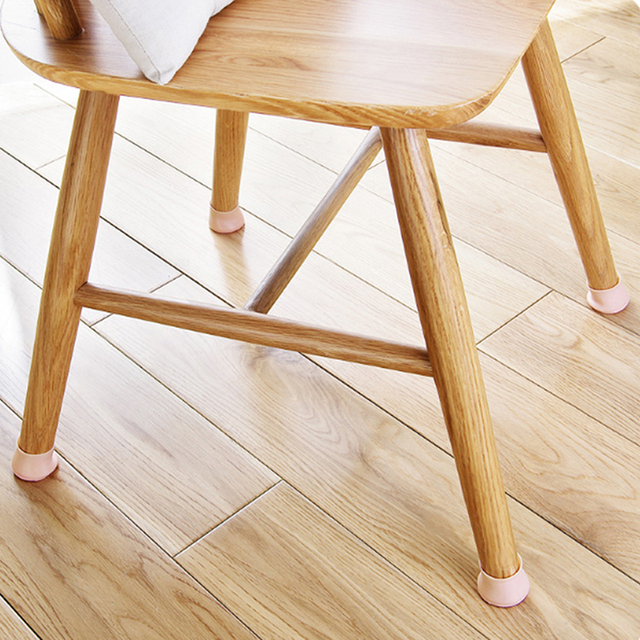 Silicone 4pcs Set Rectangle Square Round Chair Leg Caps Feet Pads Furniture Table Covers Wood Floor Protectors Protective
