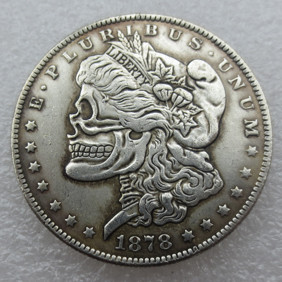 Wholesale Hobo Nickel 1878CC USA Morgan Dollar Skull Design Coin Copy High  Quality-in Non-currency Coins from Home & Garden on Aliexpress com  