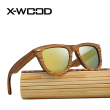 X-WOOD New Fashion Classical Square Zebra Wood Designer Sunglasses Men Women Polarized Sunglass Mirror Sun Glasses