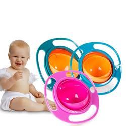 Розничная продажа, Детские миски для кормления, милые игрушки, детские гироскопы, универсальная 360 Вращающаяся непромокаемая посуда