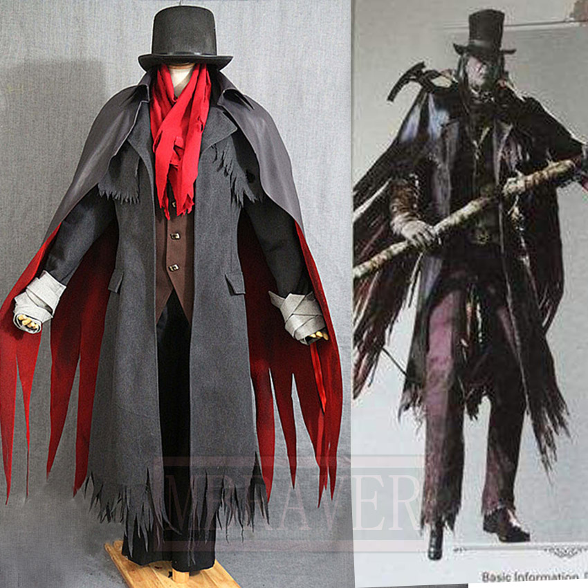 Bloodborne Gehrman The First Hunter Full Set Uniform Cosplay Costume Custom Made Any Size
