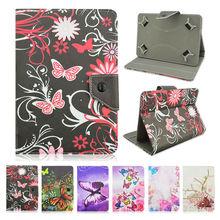 Mariposa pu leather case cubierta para lenovo tab 2 a10-30 10.1 inchfunda tablet 10 universal casos capa centro + film + pluma kf492a