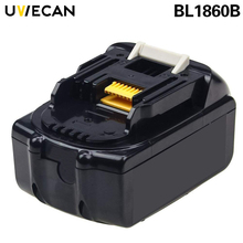 2Pcs Makita 18V 6.0Ah BL1860B Replacement Battery Lithium For BL1850 BL1845 BL1840B BL1830B 194204-5 Lxt400 Cordless Power Tool