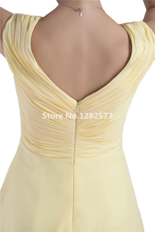 Pale Yellow Tea Length Cocktail Dress