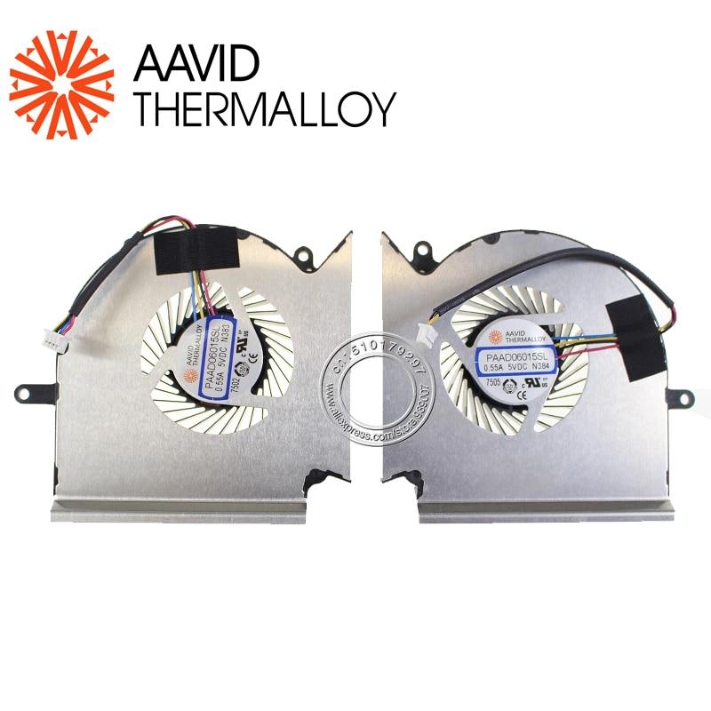 New Original Cooling Fan For MSI GS65 MS-16Q2 16Q2-CPU-CW 16Q2-GPU