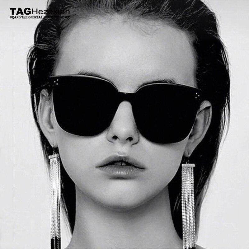 Round New 2019 gentle Fashion Women Colour Luxury Flat Top Cat Eye Sunglasses Elegant oculos de