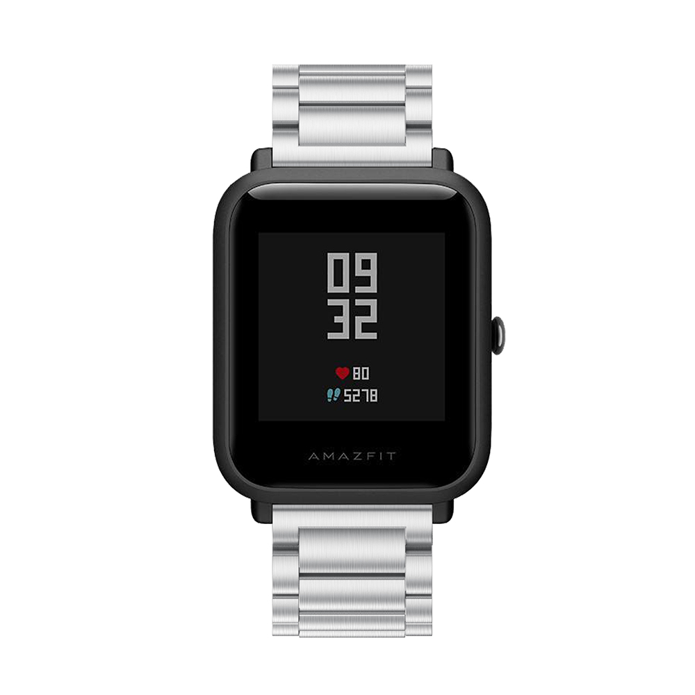 For Huami Amazfit BIT Straps Metal Stainless Steel Replacement Strap Bracelet For Huami Amazfit Bip BIT PACE Lite Youth watch in Watchbands from Watches