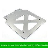 SWMAKER 3D yazıcı parçaları Ultimaker2 alüminyum levha sıcak yatak  Z platformu braketi  alüminyum levha