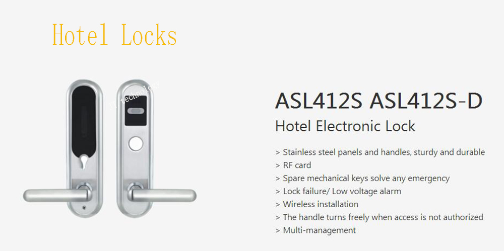 DAHUA Security Smart Lock Intelligent Building Stainless Steel Panel Wireless RF Card Hotel Electronic Lock Without Logo ASL412S