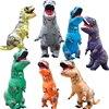 Jurassic World Inflatable Tyrannosaurus Costume Halloween Dinosaur Costume For Adults Kids Size T REX Fan