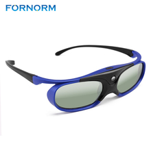 FORNORM GS1000 Battery Universal DLP 3D Glasses Active Shutter 96 144Hz For Optoma BenQ Acer Viewsonic for Dell JmGO XGIMI 3DTV