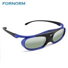 FORNORM GS1000 pil evrensel DLP 3D gözlük aktif deklanşör 96 144Hz için Optoma BenQ Acer Viewsonic Dell jmGO XGIMI 3DTV