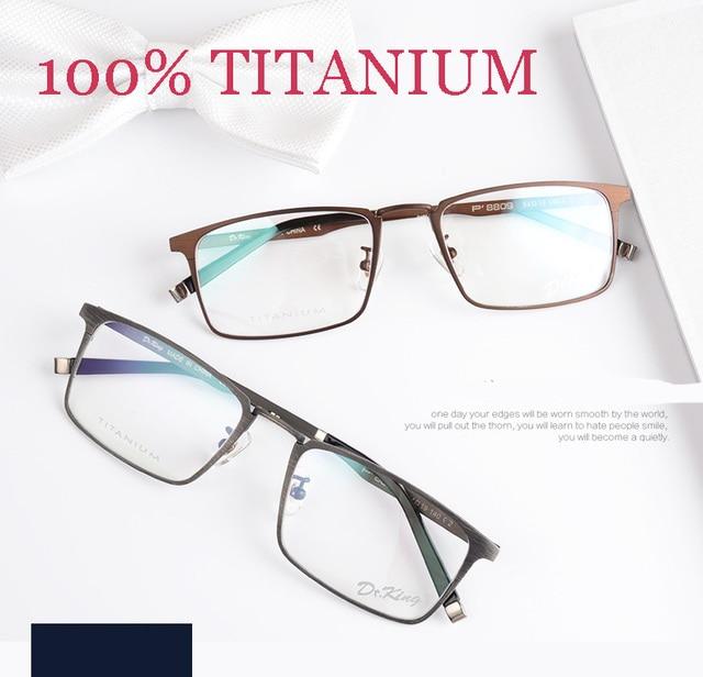 ffaef1d7ac Titanium eyeglasses fashion brand designer eyeglasses frame masculino men  vintage spectacle frames prescription glasses online