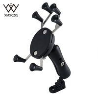 100 Pcs Lot Motorcycle Bike MTB Bicycle Handlebar Mirror Rear View Mount Universal X Grip Cell