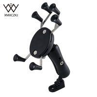 100 Pcs Lot Motorcycle Bike MTB Bicycle Handlebar Mirror Rear View Mount Universal X Grip Cell