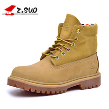 Free Shipping Z.suo Women Boots 2016 New Arrival Timber Boots Winter Genuine Leather Shoes For Woman Chinese Shoes