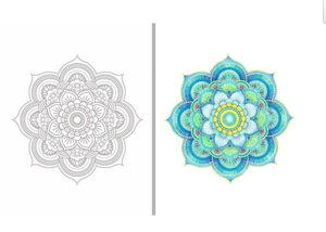 Image 3 - Inspiration ZEN 50 Mandalas Anti stress (volume 3), coloring books for adults art creative book