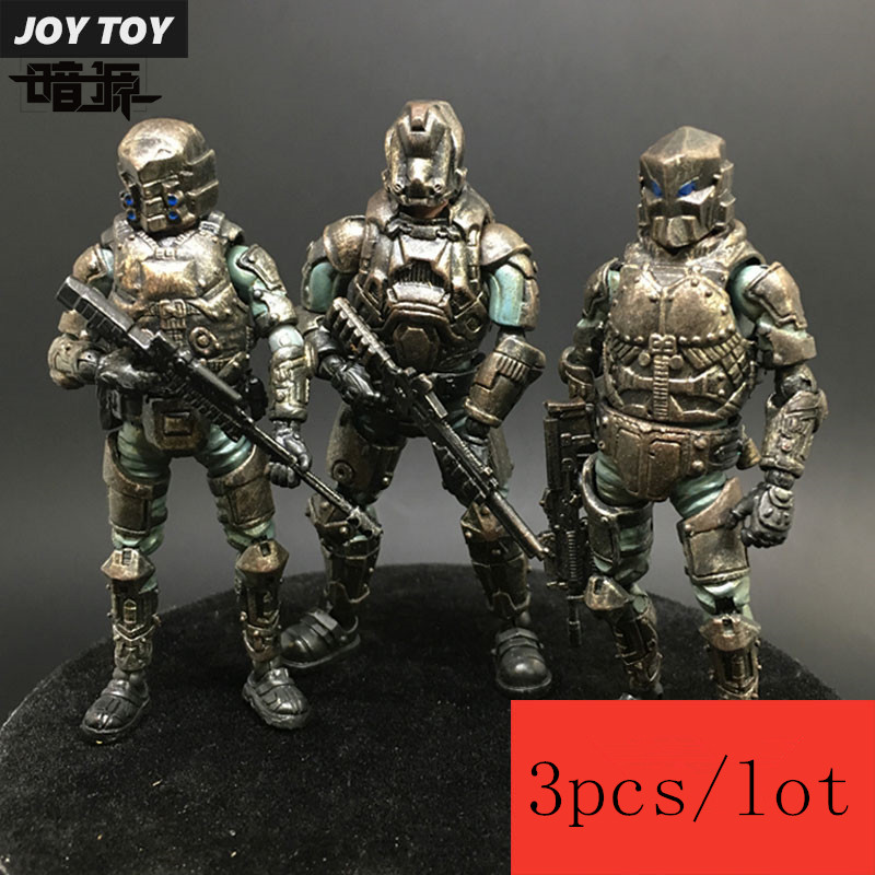 3-piece set JOY TOY  source 1:27 three generations of soldiers    model Steel Riding clan team military action figure New Boxed ancient knight 28pcs set soldiers and horses medieval model toy soldiers figures