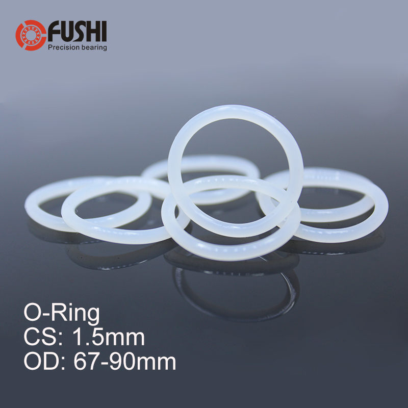 1.5mm Width 20mm Inner Diameter uxcell Silicone O-Rings 23mm OD Seal Gasket White 30Pcs