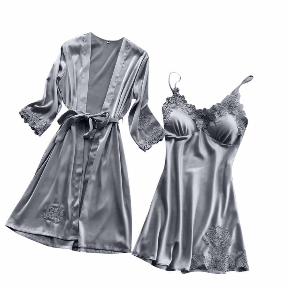 สีดำเซ็กซี่ชุดนอนผ้าไหมผู้หญิงลูกไม้ Babydoll Nightdress ชุดนอนชุดนอนเซ็กซี่ชุดชั้นในเร้าอารมณ์เซ็กซี่ใหม่ชุดชั้นใน