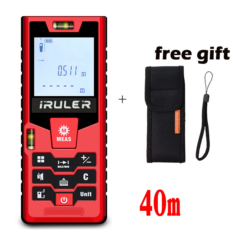 Laser Rangefinder Laser Tape Handheld Laser Distance Meter 40M Mini Range Finder Diastimeter Measure cp 40p 60p 80p 100p the new mini handheld laser range finder 40 m 100 meter distance meter