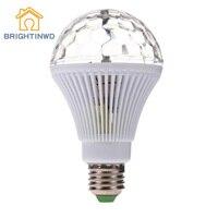 Brightinwd e27 2.5ワットクリスタルカラフルなled電球ランプ回転ライトktvボールルーム装飾