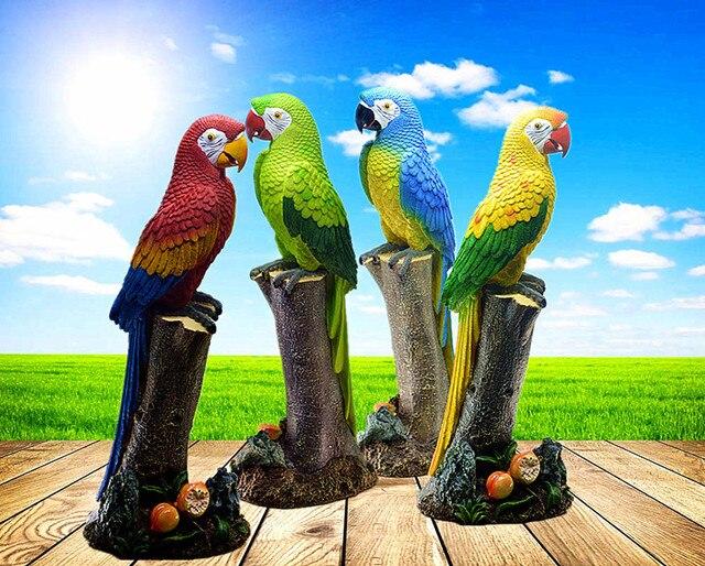 52 16 21cm Big Size Resin Parrot Home Decoration Crafts Parrot Home Ornaments Garden