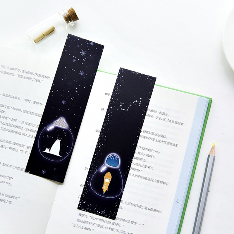 30pcs/pack Creative stationery Original paper exquisite luminous bookmark Meteor shower together Sticky Notes Post It Bookmark