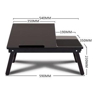 Image 2 - マジックユニオンポータブルラップトップテーブル木製ホームデスク大学の寮ベッド折りたたみテーブル膝怠惰なテーブル小規模な研究デスク