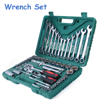 Hand Tool Set (61pcs) Socket & Bit Set Wrench Repair Service Tools Kit Spanner for Car Ship