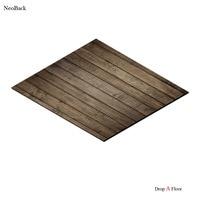 תבנית עץ שטיח רצפת גומי 4x5ft NeoBack ייחודי טאן בראון F0006 רול רצפה פופולרי תפאורות צילום רקע תמונה