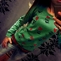 2016 Vendedores calientes de Las Mujeres Ocasional Linda Del Búho de Impresión de Manga Larga Camiseta de Las Mujeres Tops 3 Colores del Otoño del Resorte Camiseta Camisas Femme