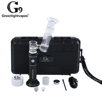 Wholesale atomizer vapor wax glass dab rig g9 henail with glass dab water crack pipe electric smoking pipe for shatter dabber 0C