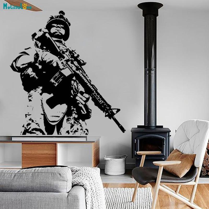 Army Men Call of Duty Personalised Wall Art Vinyl Sticker Custom Bedroom Decal