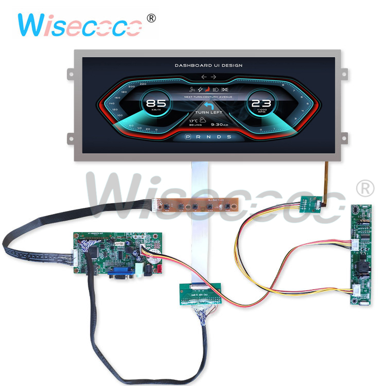 HSD123IPW1 A00 12.3 Inch Resolution 1920 * 720 HDMI Display TFT LCD 40 Pin LVDS For Automotive LCD Instruments