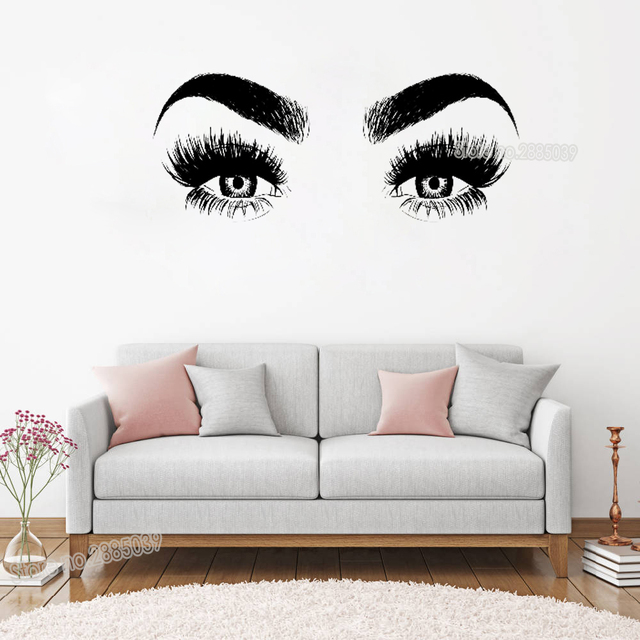 Q Home Decor: New Arrivals Eye Eyelashes Wall Decal Art Vinyl Home Wall